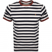 Product Image for Farah Vintage Belgrove Stripe T Shirt White
